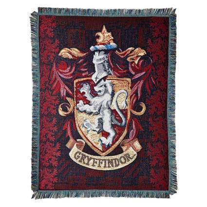 """Harry Potter, """"Gryffindor Shield"""" Woven Tapestry Throw Blanket, 48"""" x 60"""""""