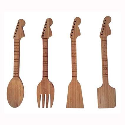 guitar neck bamboo kitechen tool set
