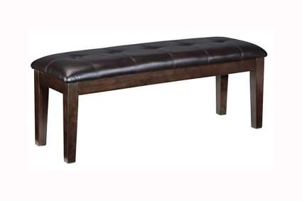 black Upholstered dining room bench