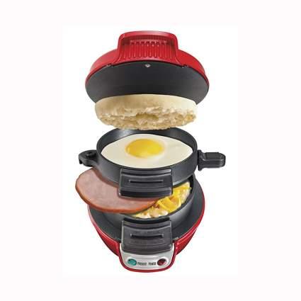 red breakfast sandwich maker machine