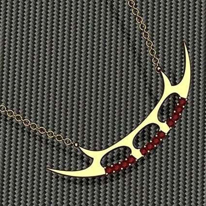 Handmade Bat'leth Necklace