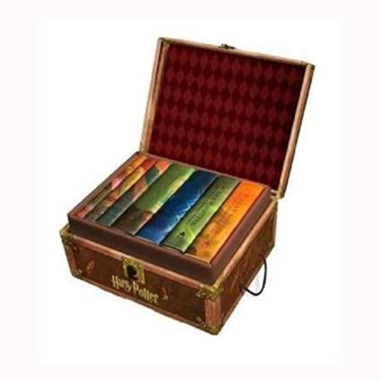 harry potter books in collectible chest