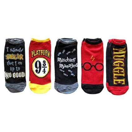 Harry Potter Women's Ankle-No Show Socks