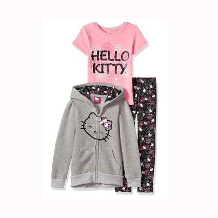 hello kitty three piece clothing set