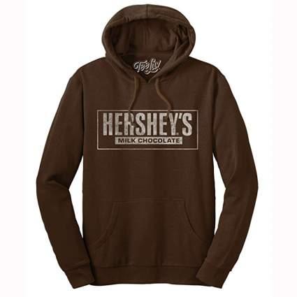 brown hershey's hoodie sweatshirt