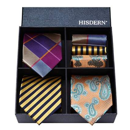 Hisdern Silk Necktie Set