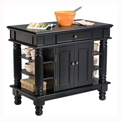 black portable kitchen island