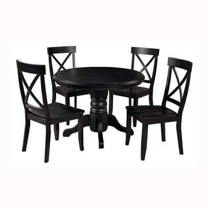 Black four person dining set