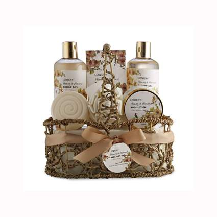 honey and almond bath gift set