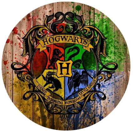 Harry Potter Hogwarts Crest Edible Cake Topper
