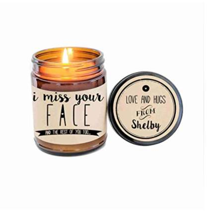 I Miss Your face personalized candle