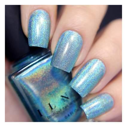 Holo aqua nail polish