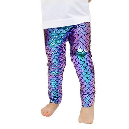baby in shiny mermaid leggings