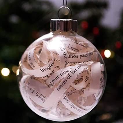 jane austen christmas ornament