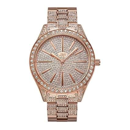 rose gold plated diamond watch