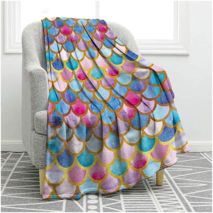 mermaid scale blanket