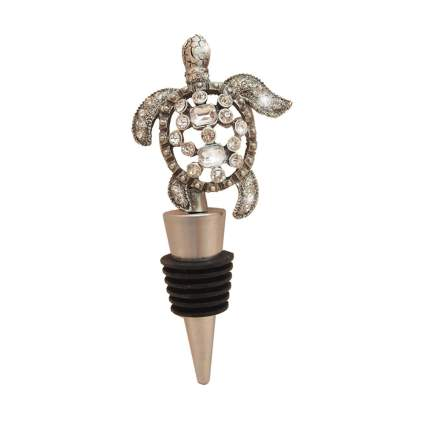 jeweled sea turtle wine stopper