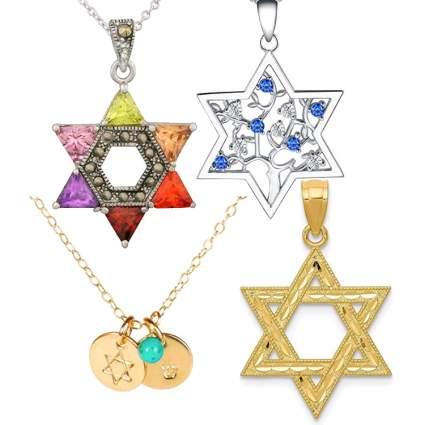 jewish star of david necklaces