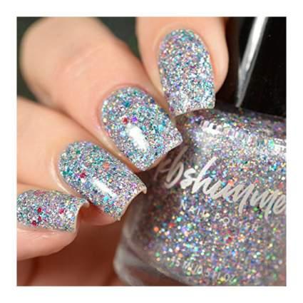 Silver glitter nail polish from KBShimmer