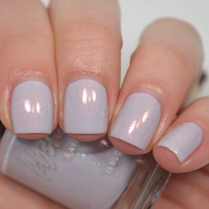 Lilac glitter nail polish