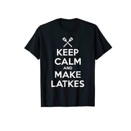 keep calm make latkes tshirt