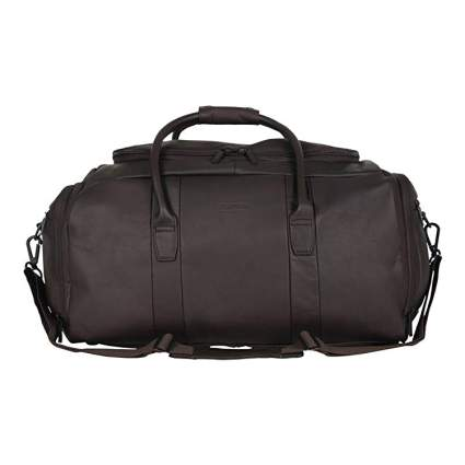"Kenneth Cole Reaction Duff Guy Colombian Leather 20"" Single Compartment Top Load Travel Duffel Bag"