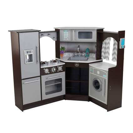 Stainless steel kid's kitchen set
