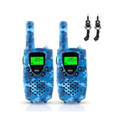 blue camo kids walkie talkies
