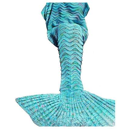 aqua mermaid blanket