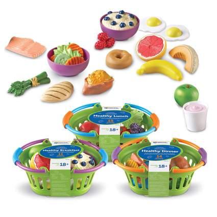 Baskets of fake food
