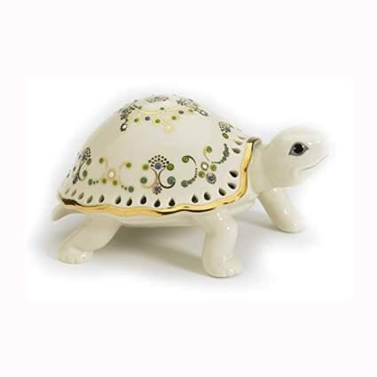 Lenox white and gold turtle figurine