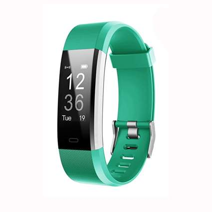 green fitness tracker