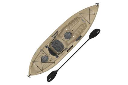 brown sit on top fishing kayak