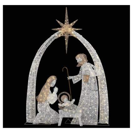 lighted life size nativity scene