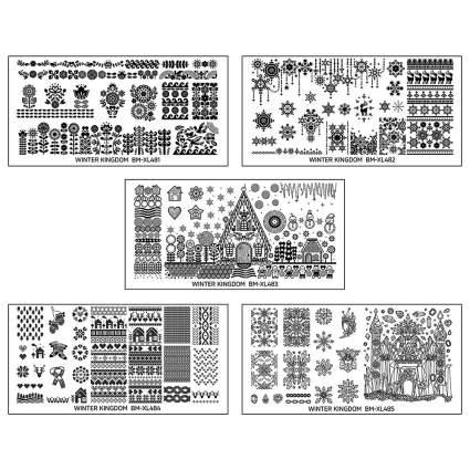 Winter nail stamping plates