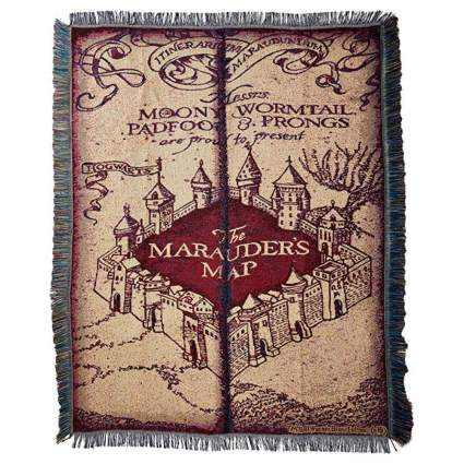 Marauder's Map Tapestry Throw, 48 by 60-Inch