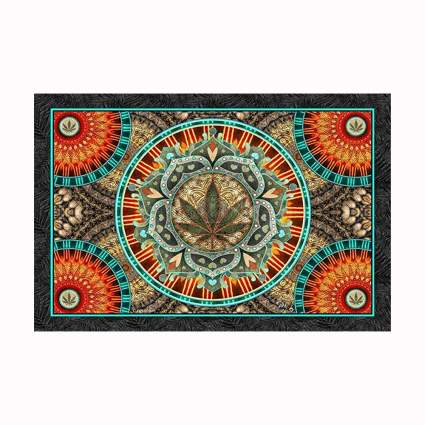 marijuana leave hippie tapestry