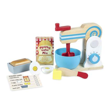 Wooden cake mixer toy