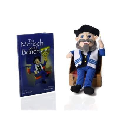 mensch on a bench jewish gift