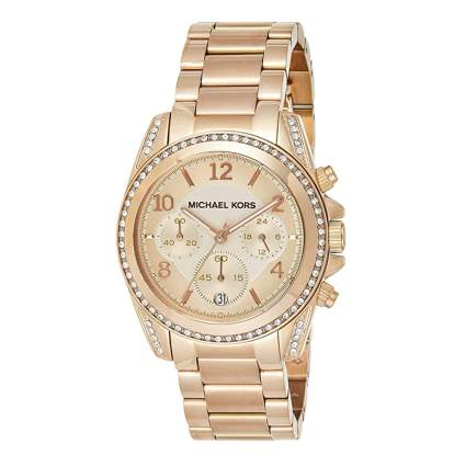michael kors goldtone women's watch