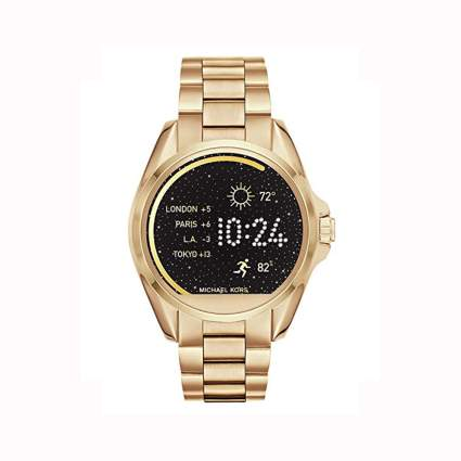 gold michael kors women's smartwatch