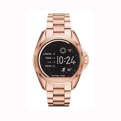 rose gold women's smartwatch