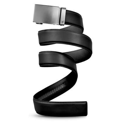 leather ratcheting belt