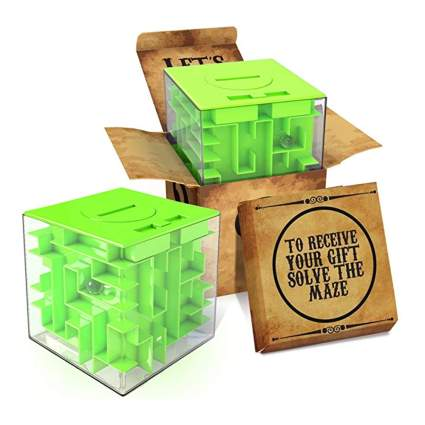 money maze puzzle gift box
