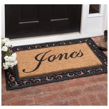 monogrammed doormat