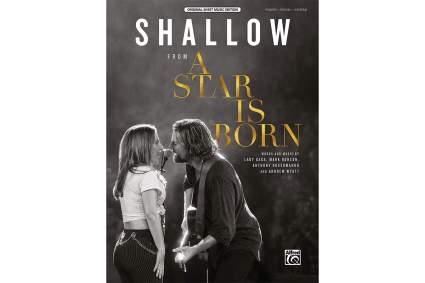 """""""Shallow"""" sheet music book"""