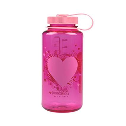 pink BPA free wide mouth water bottle