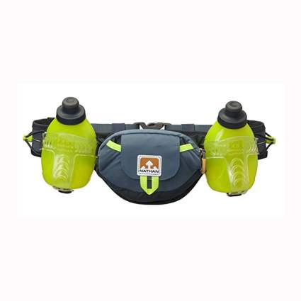 running belt with two water bottles
