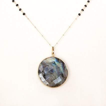 Handmade Large Semi-Precious Stone Pendant Necklace