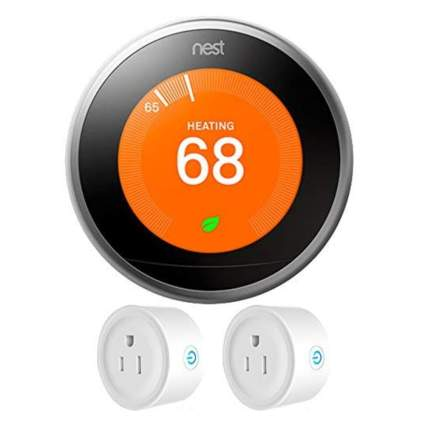 smart thermostat and wifi plugs